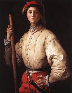 Portrait of a Halberdier by Jacopo Pontormo