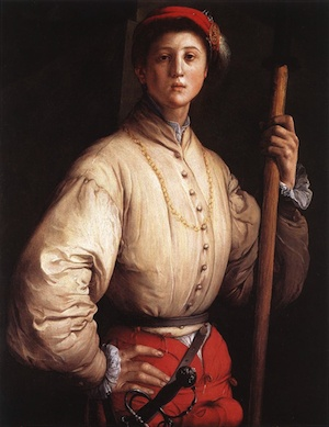A mirror image of the Jacopo Pontormo painting