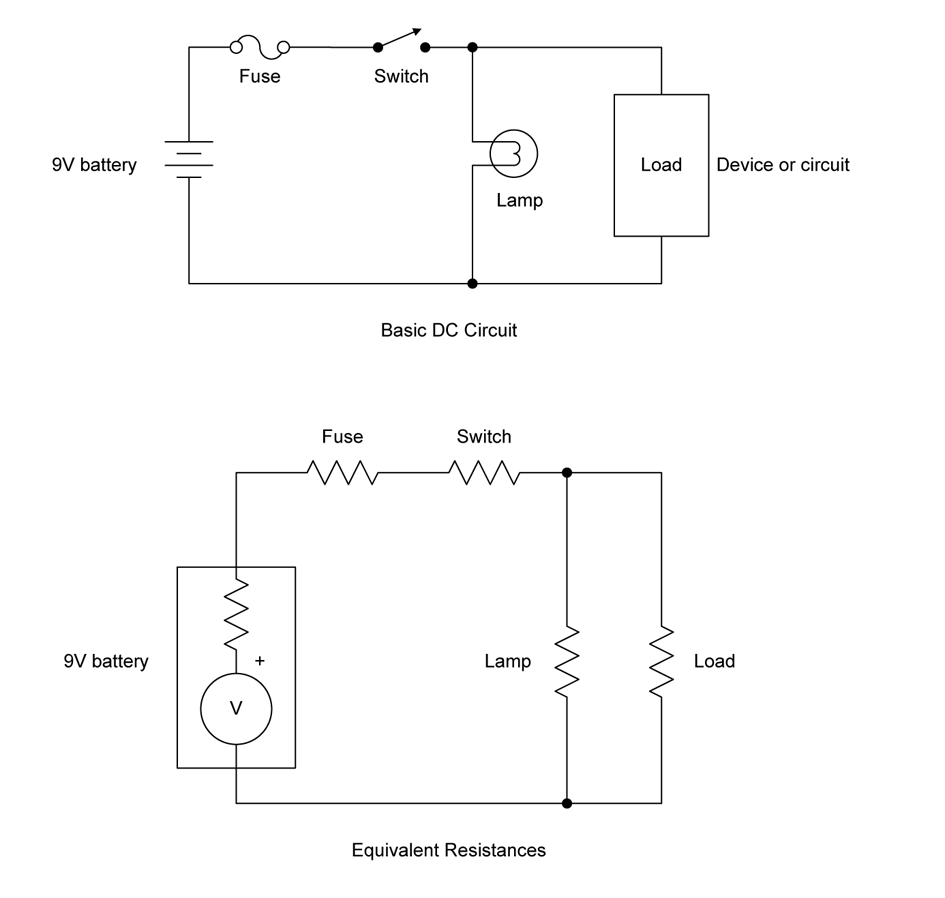 1 Electrons In Motion Practical Electronics Components And Explains The Two Most Common Methods For Wiring A Basic Light Switch Figure 5 Circuit Resistance Example