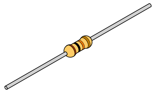 A typical small resistor