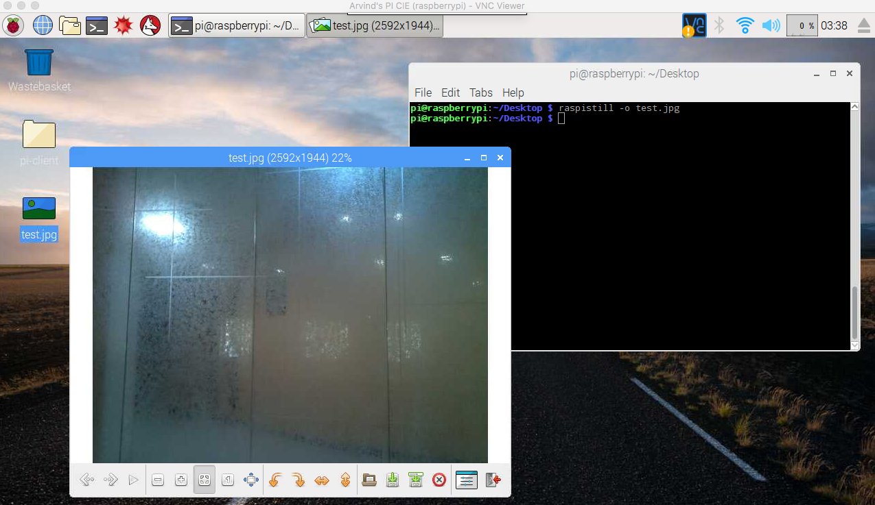 Testing the camera - Practical Internet of Things with