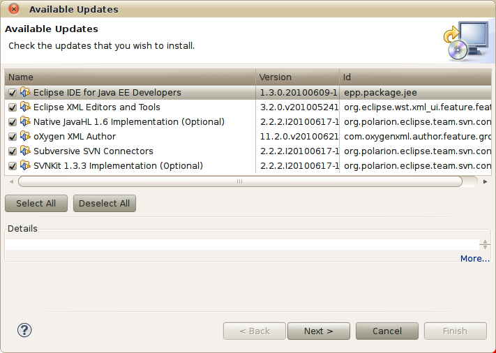 Updating Eclipse components and the ADT plug-in