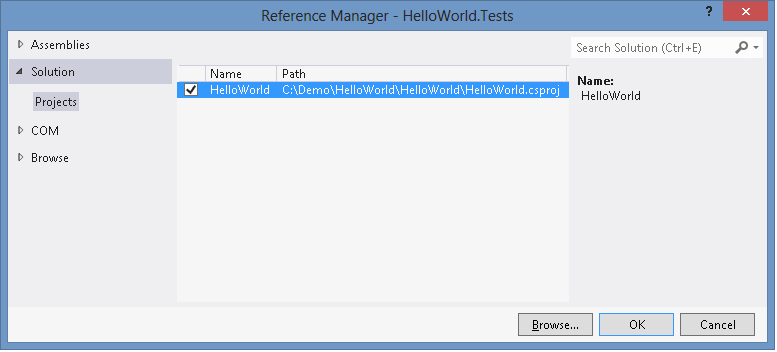 The Reference Manager dialog