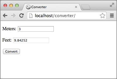 Converter web app running in Chrome
