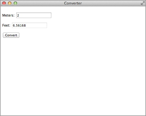 Converter Chrome App running