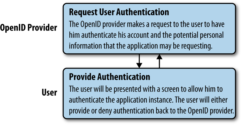 OpenID, step 3: Provider requests user authentication