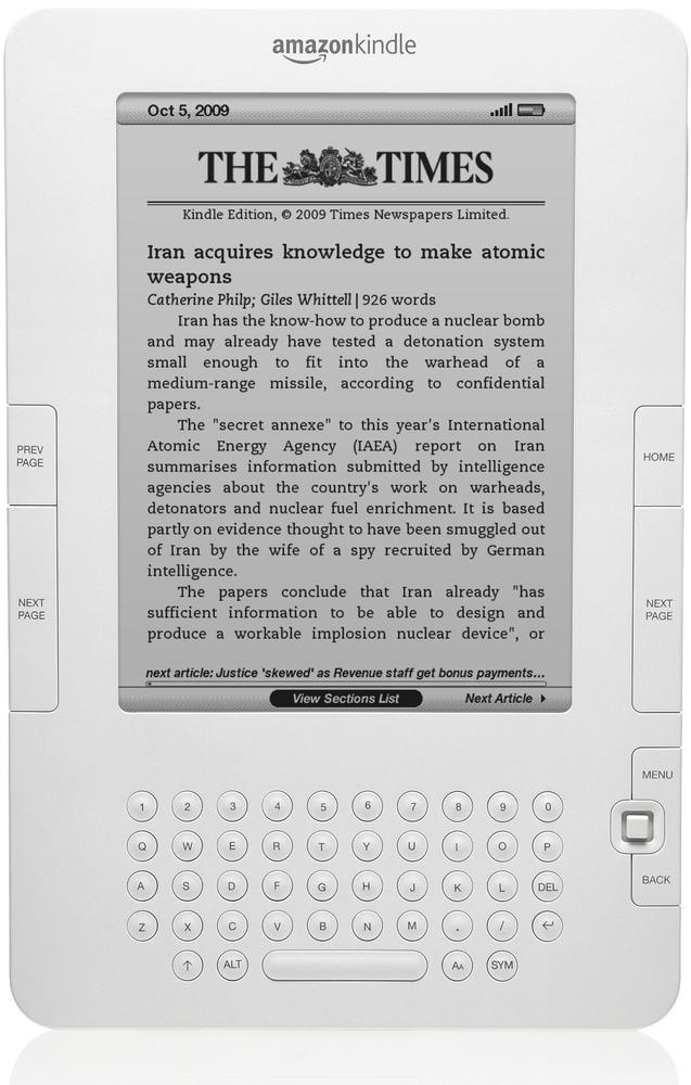 The Amazon Kindle can be considered a mobile device because of its network connection and (limited) web browser.