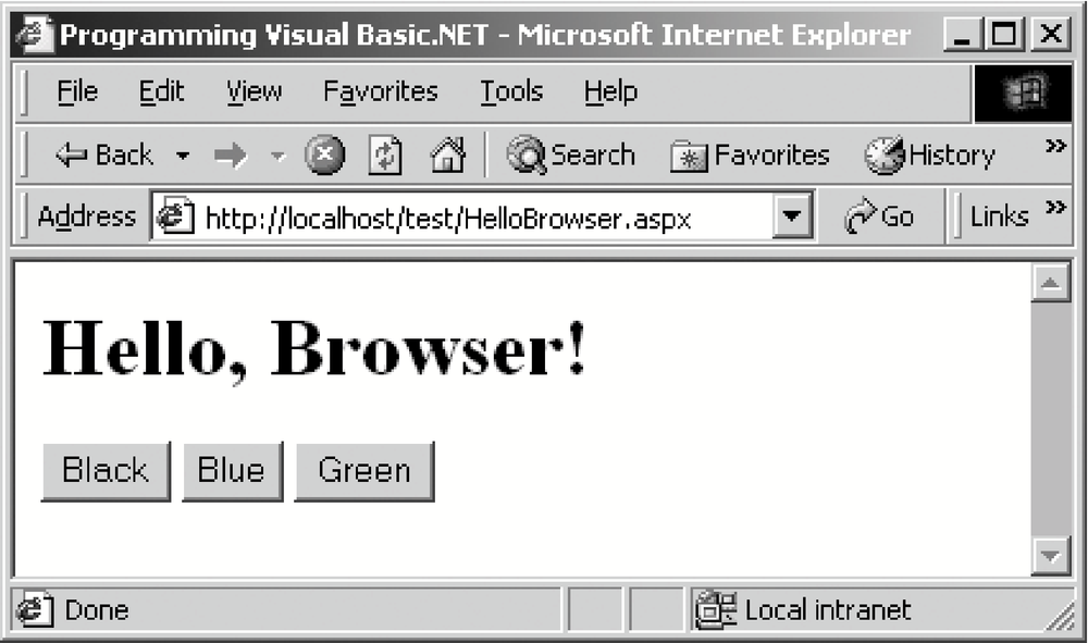 Hello, Browser!