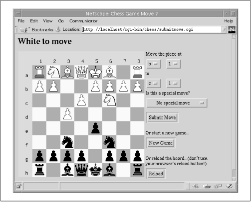 The board at the beginning of Move 4, Round 3 in the 1997 Kasparov/Deep Blue rematch