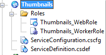 ServiceConfiguration and ServiceDefinition files in Visual Studio