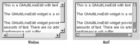 Multiline text-entry fields