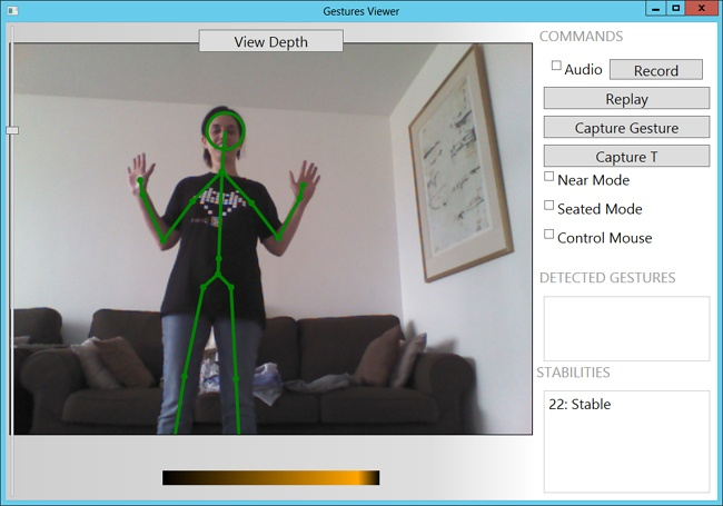 Using the Gestures Viewer application.