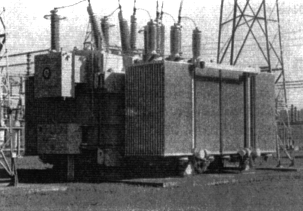 Image of Three-phase 325 MVA, 230:115 kV autotransformer bank with a 13.8 kV tertiary