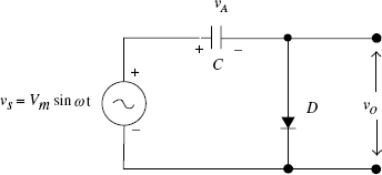 FIGURE 5.1 A negative clamping circuit
