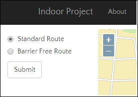 Creating an indoor route-type service