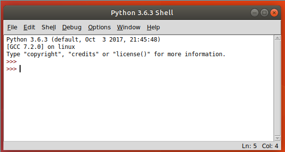 Using the shell mode of IDLE - Python GUI Programming with Tkinter