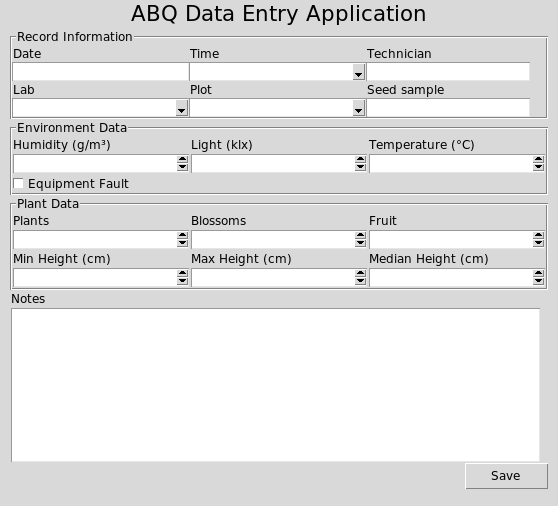 Running the application - Python GUI Programming with