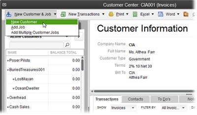Setting Up Customers Jobs And Vendors QuickBooks The - Create invoice in quickbooks online thrift store
