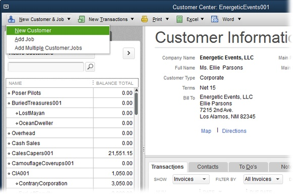 To Create A New Customer In The Customer Center, Click New Customer U0026 Job→