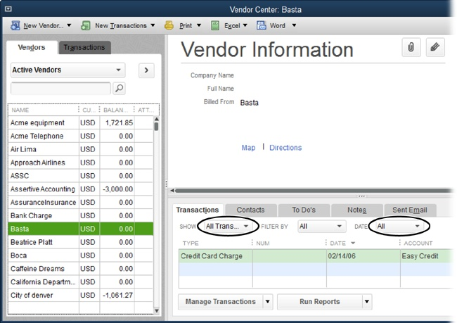how to create a vendor statement in quickbooks