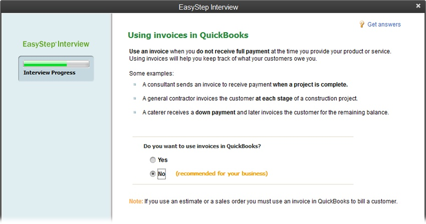 Creating A Company File QuickBooks The Missing Manual Book - How to create invoice in quickbooks for service business
