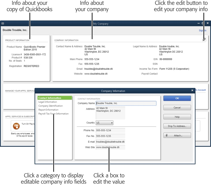 1  Creating a Company File - QuickBooks 2015: The Missing