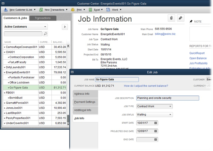 4  Setting Up Customers, Jobs, and Vendors - QuickBooks 2016