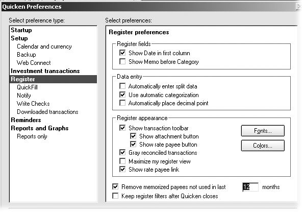 1  Setting Up Your Quicken Environment - Quicken 2006 for