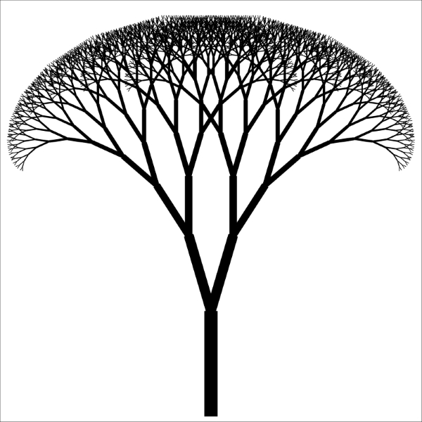 Drawing a binary fractal tree