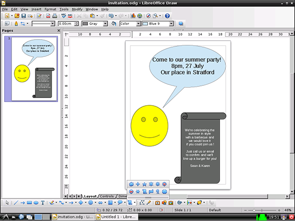 Creating a party invitation with libreoffice draw raspberry pi for with safari you learn the way you learn best get unlimited access to videos live online training learning paths books interactive tutorials and more stopboris Choice Image