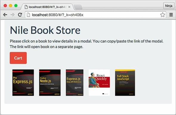 Chapter 18  Project: Building a bookstore with React Router