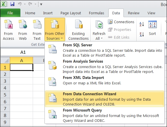 Using Microsoft Excel as a reporting tool