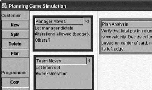 Simulation of XP's Planning Game