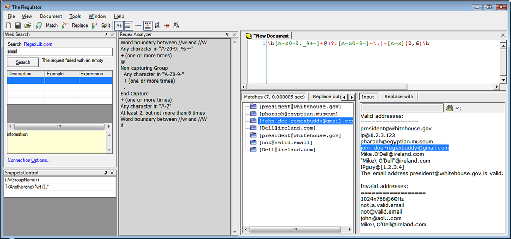 Tools for Working with Regular Expressions - Regular Expressions