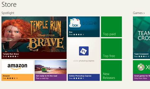 The Windows Store is where users are able to purchase and download new Windows 8 apps.