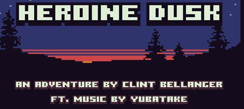 The Heroine Dusk start screen.