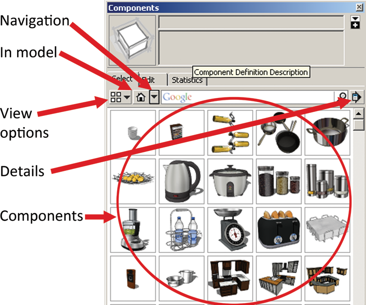 The Component Browser - Rendering in SketchUp: From Modeling to