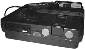 The black model of the Twin Famicom