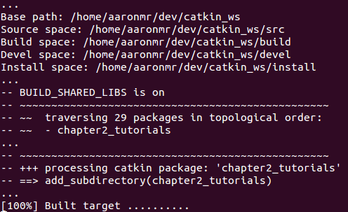 Building an ROS package - ROS Programming: Building Powerful
