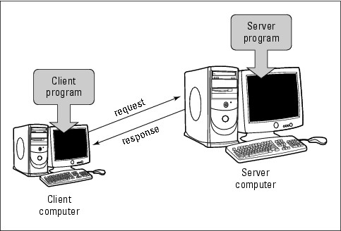 Figure 7-1: Communication between a client and a server.