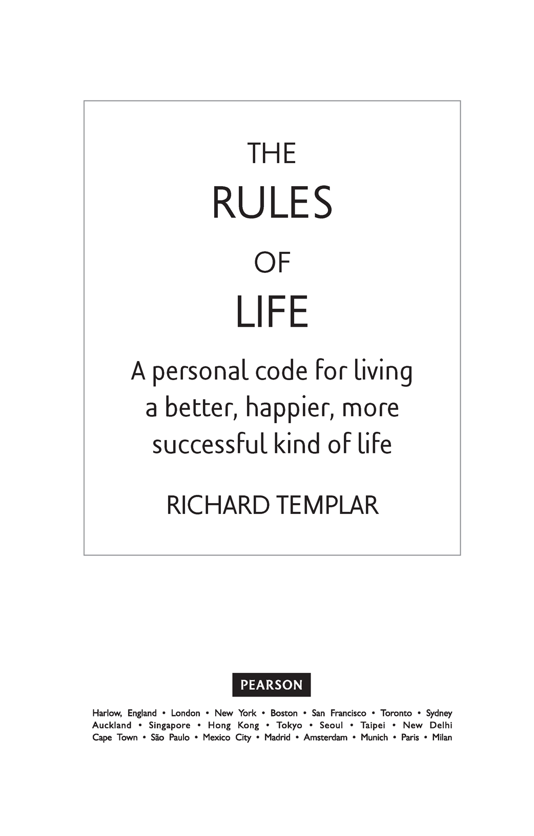title page rules of life th edition book safari you learn the way you learn best get unlimited access to videos live online training learning paths books interactive tutorials and more