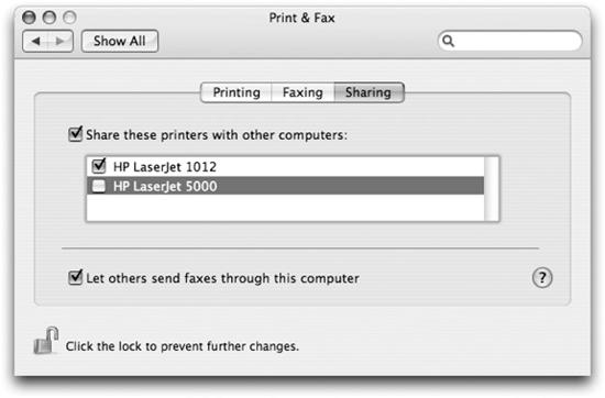 Enabling printer sharing