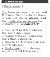 A special Slashbox showing available moderation points