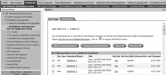 Download Software - SAP Basis Administration Handbook