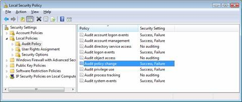 Viewing and setting Audit Policies