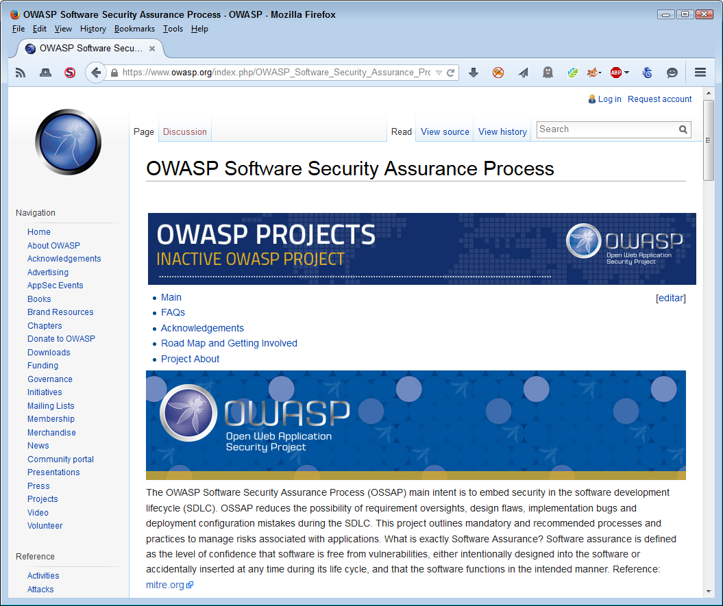 The OWASP site tells you about SSA for web applications