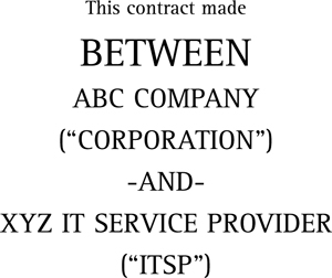 Service Contract  It Service Contract Template