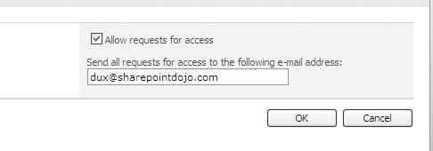 Manage Access Request page