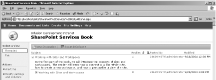 1  Working with Sites and Workspaces - SharePoint User's