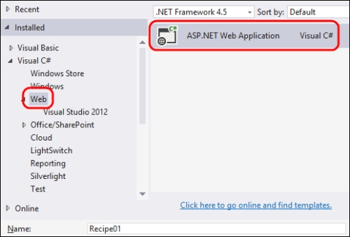 Creating an ASP.NET web forms application
